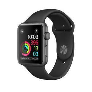 Apple Watch 42mm Space Black Stainless Steel Case - Black Sport Band