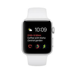 Apple Watch Series 1 38mm (Stainless Steel Case, White Sport Band) - Unlocked GSM/CDMA