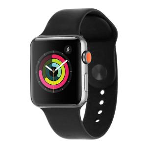 Apple Watch Series 3 (42mm) - Space Gray Aluminum case - Black Sport Band (GPS + Cellular LTE)