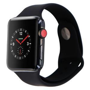 Apple Watch (Series 3) 42 mm - Stainless steel Space Black - Sport Band Black