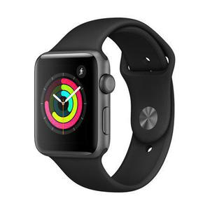 Apple Watch Series 3 (GPS + LTE) 38mm - Space Gray Aluminum Case with Black Sport Band