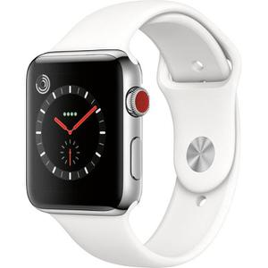 Apple Watch Series 3 (GPS + LTE) - 42mm Aluminium Case with White Sport Band
