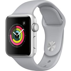 Apple Watch Series 3 (GPS) 38mm - Silver Aluminum Case - Fog Sport Band