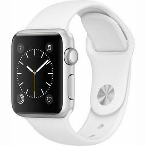 Apple Watch Series 2 38mm Silver Aluminum Case - White Sport Band