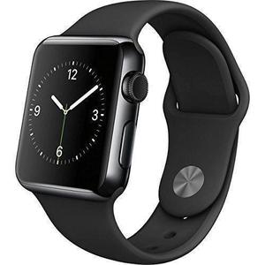 Apple Watch Series 2 42mm Space Black Case - Black Sport Band