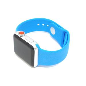 Apple Watch Series 3 (GPS + Cellular) - 42mm Silver Aluminum Case with Blue Sport Band
