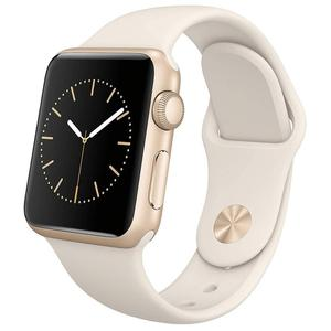 Apple Watch Series 1 42mm Gold Aluminum Case - White Sport Band