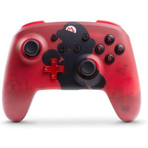 PowerA Wireless Controller for Nintendo Switch Mario Silhouette Edition - Red