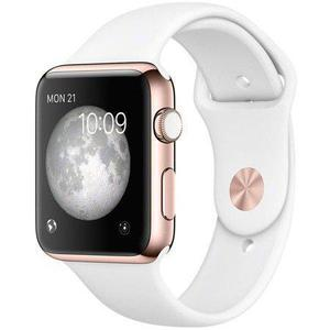 Apple Watch Series 3 (GPS+Cellular)  42mm Rose Gold Case - White Sport Band