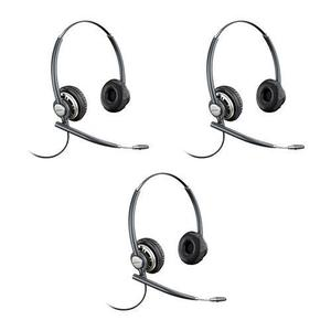 Plantronics Encore Pro HW720 Corded Stereo Headset 3Pack with Microphone - Black