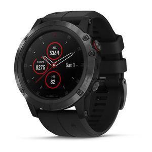 Watch Multi-Sport GPS Garmin Fenix 5X Plus Sapphire - Black