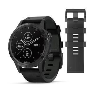 Watch Multisport GPS GARMIN Fenix 5 Plus Sapphire - Black