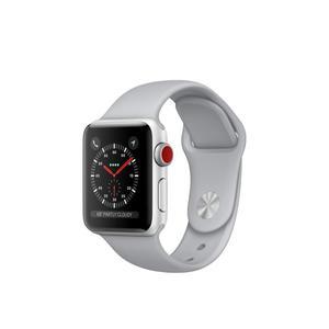 Apple Watch Series 3 (cellular) 38mm - Silver Aluminum Case - Fog Sport Band