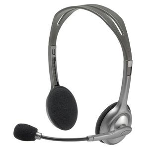 Headphones with Microphone Logitech H110 - Grey
