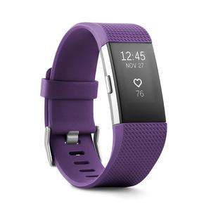 Fitbit Charge 2 Heart Rate + Fitness Wristband - Plum - Large