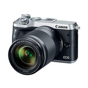 """Canon EOS M6 1725C021 18-150mm f/3.5-6.3 IS STM Kit 1.8 x 4.4 x 2.7"""" - Silver"""