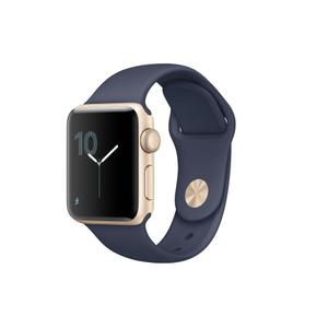 Apple Watch (Series 2) 42 mm - Aluminium Gold  - Bracelet Midnight Blue
