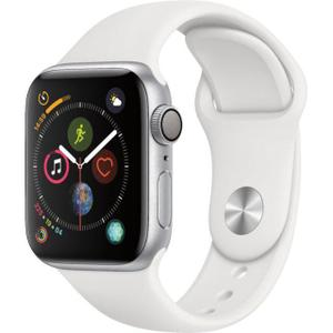 Apple Watch (Series 4) 40 mm - Aluminum Silver - White Sport Band