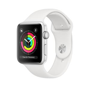 Apple Watch Series 3 - 38mm Silver Aluminum Case with White Sport Band