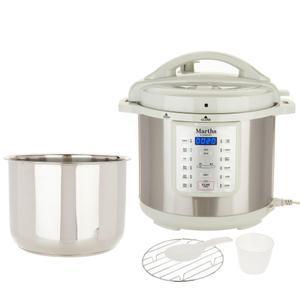 Multi-Cooker Martha Stewart 8-qt 7-in-1 Digital K48342 - Silver/White