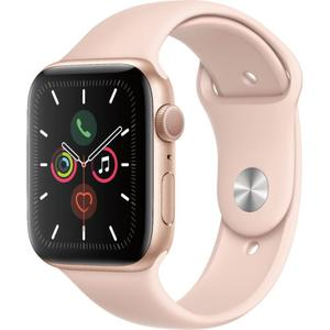 Apple Watch (Series 5) 44mm Gold Aluminum Case - Pink Sand Sport Band