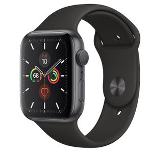 Apple Watch (Series 5) September 2019 44 mm - Aluminum Space Gray - Sport Band Black