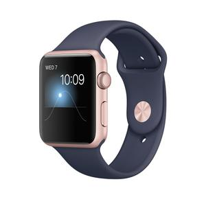 Apple Watch Series 1 42mm (Rose Gold Aluminum Case Midnight Blue Sport Band)