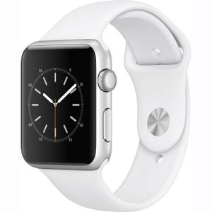Apple Watch Series 1 38 mm - Silver Aluminum Case - White Sport Band