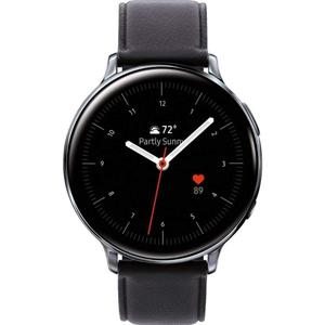 Watch Heart Rate Monitor GPS  Galaxy Watch Active2 Sm-r835u 40 mm - Stainless Steel Silver - Leather Black Strap
