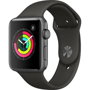 Apple Watch (Series 3) 42mm - Space Gray Aluminum Case - Black Sport Band - (GPS)
