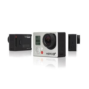 Sport Camera GoPro Hero3+ - Silver + 50 PCS Accessory + Waterproof Case + 8G SD Card + Adhesive Mount + USB Charger + Battery
