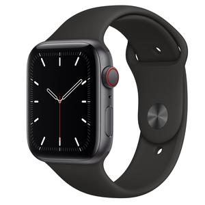 Apple Watch (Series SE) September 2020 44 mm - Aluminum Space Gray - Sport Band Black