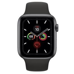 Apple Watch (Series 4) 44mm - GPS + Cellular - Space Gray Aluminium Case - Black Sport