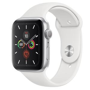 Apple Watch (Series 4) 44mm (GPS + Cellular) - Silver Aluminium Case - White Sport Band