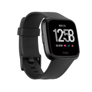 Fitbit Versa Heart rate + Fitness Wristband - Black - S/L Band