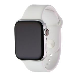Apple Watch (Series 4) 44 mm - Aluminum Silver - Sport Band White