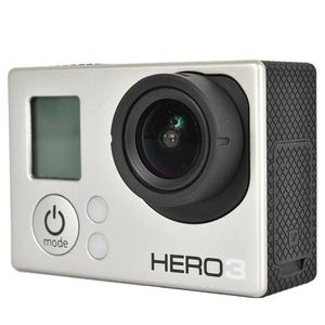 Sport Camera GoPro Hero 3 - Silver + 50PCS Accessory + Waterproof Case + Adhesive Mount + 8G SD Card + USB Charger + Battery