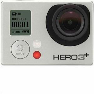 Sport Camera GoPro Hero 3+ - Silver + Waterproof Case + Adhesive Mount + 8G SD Card + Battery + USB Charger