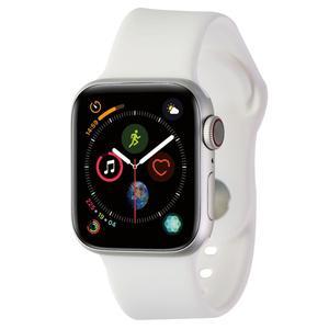 Apple Watch (Series 4) September 2018 40 mm - Aluminum Silver - Sport Band White