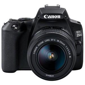 Reflex Canon EOS 250D - Black + Lens Canon EF-S 18-55mm f/3.5-5.6 III - Black