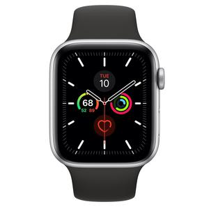 Apple Watch Series 3 42mm (GPS + Cellular) Silver Stainless Steel Case - Black Sport Band