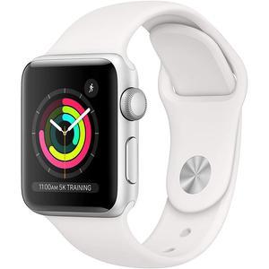 Apple Watch (Series 3) September 2018 42 mm - Aluminium Silver - Sport Band White