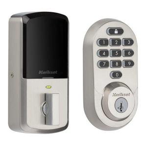 Connected objects Kwikset 99380-002 Halo Wi-Fi Smart Lock - Satin Nickel