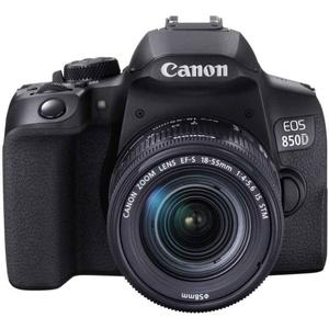 Reflex Canon EOS 850D - Black + Lens Canon EF-S 18-55 mm f/4-5.6 IS STM - Black