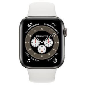 Apple Watch (Series 5) September 2019 40 mm - Titanium Black - Sport Band Silver