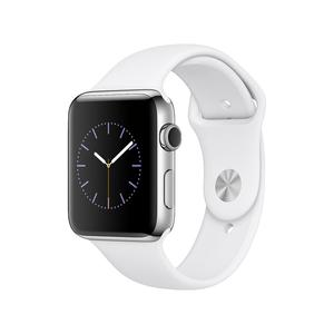 Apple Watch (Series 2) 42mm - Silver Aluminium Case - White Sport Band
