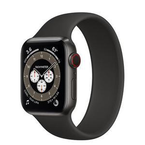 Apple Watch Series 5 GPS + Cellular - 40mm Titanium Case - Black Sport Band - Space Gray