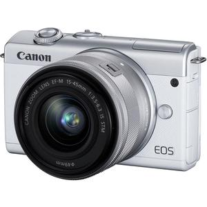 Hybrid Canon EOS M200 - White + Lens Lens Canon EF-M 15-45mm f/3.5-6.3 IS STM - White