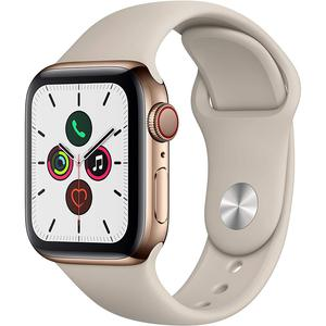 Apple Watch Series 5 44mm GPS + Cellular Stainless Steel + White Band 32GB