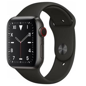 Apple Watch (Series 5) September 2019 44 mm - Titanium Black - Sport Band Black